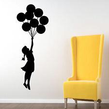 Banksy Balloon Floating Wall Stickers, Wall Graphics, Wall Art, Wall Decorations