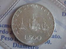 500 LIRE CARAVELLE DAL 1968 AL 2001- ARGENTO - FDC