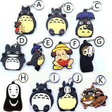 Totoro Cat Bus NO FACE KAONASHI Rubber Keyring / Keychain / Key Holder