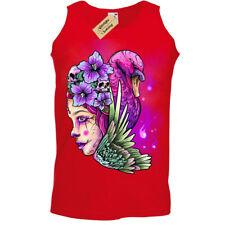 Queen T-Shirt neon wings skull princess Vest Mens