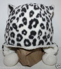 baby Gap NWT Girl's Fleece Leopard Hat w/ Sherpa Lining