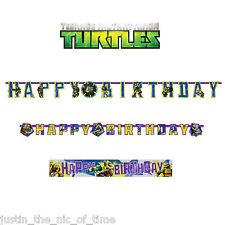 TEENAGE MUTANT NINJA TURTLES Boys Superhero Birthday Decorations BANNERS