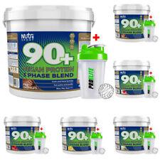 Nutrisport 90+ 3 Vegan Protein Powder Shake 5kg / 5000g Flavoured + Shaker