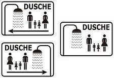 Schild Dusche Familien/ Sammel Türschild mit/ ohne Pfeile WC 15x20, 20x30, 30x40