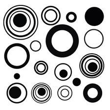 Sticker Décoration Planche Ronds, Rond Illusion (20x20 cm à 30x30 cm)