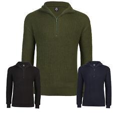 L Airsoft Funsport Troyer-Pullover mit Reißverschluss marine Gr