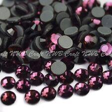 Amethyst Hotfix Iron On Glass Rhinestones Flat Back Crystals Diamante Gems