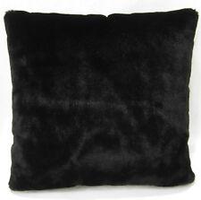 Fm847a Black Plain Soft Faux Fur Cushion Cover/Pillow Case*Custom Size*
