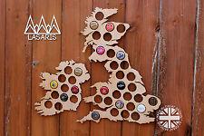 UK Beer Cap Map Bottle Cap Map Collection Gift Art