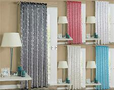 Shimmer Voile Foil SHINY Tenda Slot Superiore Asta/Net Curtain Panel Drappo in Voile