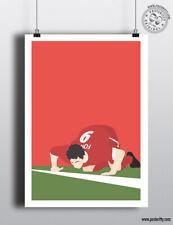 ROBBIE FOWLER - Snort Line Goal Celebration Liverpool FC Football Poster Minimal