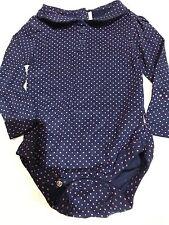 girls navy long sleeved pink polka dot Bodyvest jojo bebe slight second