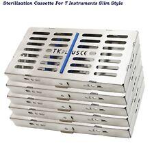 Dental Sterilization Cassettes Slim Style Autoclave Rack tray for 7 Instruments