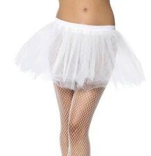 Ladies Tutu White Fancy Dress Layered Tutu Underskirt New by Smiffys