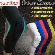 2pcs Basketball Crashproof Antislip Knee Leg Long Sleeve Protector Honeycomb Pad