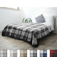 """PAVILIA Fleece Plaid Sherpa Twin Size Bed Blanket 60"""" x 80"""" Luxury Microfiber"""
