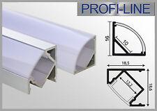 Nur 6,90 €/m LED Aluminium Eck Profile Alu Winkel Profil für LED-Strips Zubehör