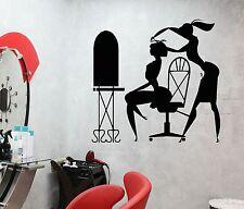 Vinyl Wall Decal Hair Salon Barbershop Stylist Hairdresser Stickers (455ig)