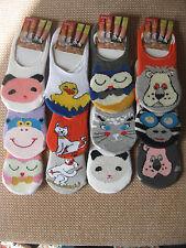 Childrens animal trainer Liner socks Pack of 3, 3 sizes, 9-12, 12.5-3.5,4-5.5
