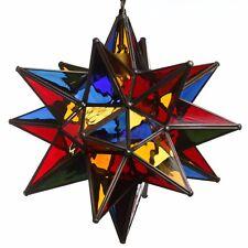 15 Inch Multi Color Glass Star Light Pendant