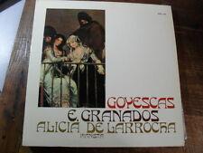 "ALICIA DE LARROCHA  "" E. GRANADOS: GOYESCAS "" LP VINILE"