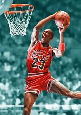 MICHAEL JORDAN POSTER Chicago Bulls Basketball Wall Art Photo Pic Print A3 A4