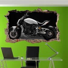 FAST COOL DUCATI MOTORBIKE WALL STICKERS 3D ART MURAL ROOM OFFICE SHOP DECOR TG2