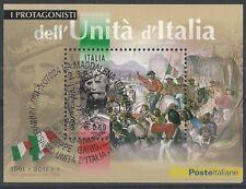 2011 ITALIA FOGLIETTO PROTAGONISTI GARIBALDI ANULLO FDC