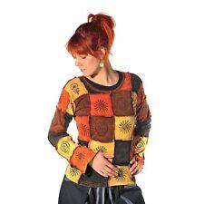 Patchwork Shirt Pullover Oberteil Sweatshirt Zip Hoodie Hippie Goa Psy Asha