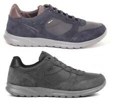 GEOX DAMIAN U740HA NAVY ANTHRACITE scarpe uomo sneakers pelle camoscio casual