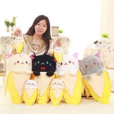 20'' Anime Bananya Banana Cat Plush Stuffed Toy Cushion Doll cute kids Birthday*