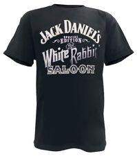 Jack Daniels Men's White Rabbit Logo Short Sleeve T-Shirt - Black 15261457JD-89