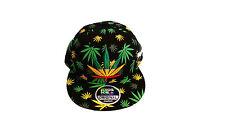 New Weed snapback caps, mens, bling cannabis galaxy- flat peaks baseball hats