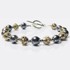 Bracelet Homme Femme  Perles du Tibet  - Strass - Bijoux Pochette cadeau -