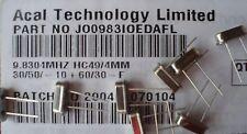 Qty 100pcs ACT JO0983IOEDAFL HC49/4MM 9.8304 MHz 30/50/10/30 F Crystals
