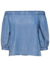 ONLY Damen Jeans Bluse Tunika Shirt onlJANICE OFF SHOULDER DNM TOP schulterfrei
