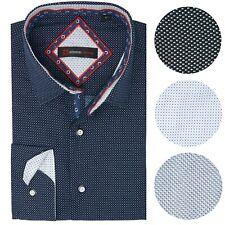Alpine Swiss Wayne Herren Langärmeliges Knopfleiste Kleid Shirt Button Front Shi...