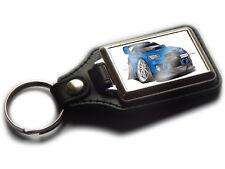 MITSUBISHI EVO X FQ 440 MR Sports Car Koolart Leather and Chrome Keyring