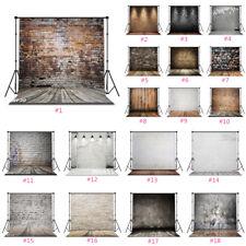 Rustic Wood Floor Brick Wall Backdrop Photography Studio Props Custom Background