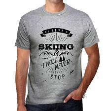 SKIING Extreme sport Tshirt, Homme Tshirt Gris, Cadeau Tshirt