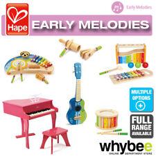 Hape sonido musical gama completa de instrumentos de madera para niños pequeños niños 12M+