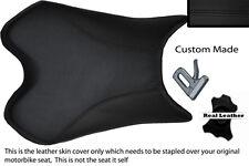 BLACK CUSTOM 09-12 FITS YAMAHA 1000 YZF R1 100% LEATHER SEAT COVER