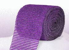 Purple Diamante Rhinestone effect band ribbon Cake Trim Wedding, Sewing