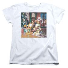 Garfield Odie Tree Womens Short Sleeve Shirt White