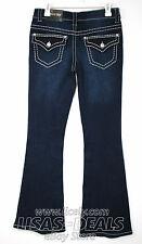 New Womens Paisley Sky Denim Pants Mid Rise Flake Distressed Blue 2