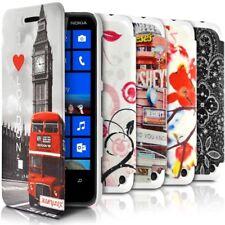 Coque Etui à rabat porte-carte motif pour Nokia Lumia 620 + Film de protection