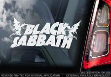 Schwarz Sabbat - Auto Fensteraufkleber - Ozzy Osborne Rock Metal Aufkleber