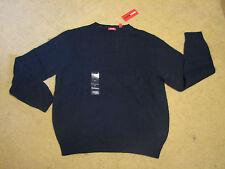 Men's L large IZOD wool blend sweater choose color blue red gray