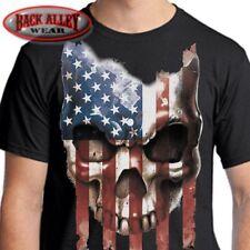 AMERICAN FLAG SKULL T-Shirt ~ USA Patriot Tee ~ Americana Don't Tread 'Merica