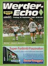 BL 90/91 SV Werder Bremen - FC Bayern München